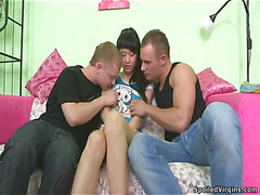 Neat nice-looking angel oraljobs dude and acquires drilled by him