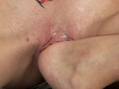 Bewitching angel is pounding her sexy bawdy cleft with hard sex-toy