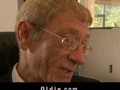 The majority astounding way to get oldyoung fucking intercourse from your cleaning lady is to fire her. Then, that chick will do whatsoever necessary to please u. For this grandpa boss the pleasing comes when that chick goes down to give to his old schlong a precious oral-job